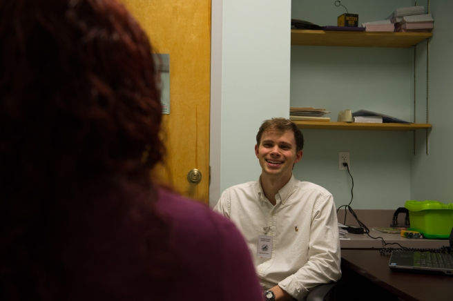Social Work graduate intern Jamie Guthrie